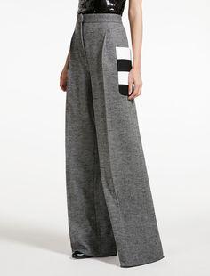 Pantalon en jersey de laine