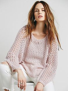 swingy loose knit luxe cashmere sweater