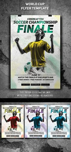 Buy Soccer Championship Finale Flyer by sanchyz on GraphicRiver. Soccer Championship FINALE – The best choice for your world cup event, easily editable, highly organized file. Event Flyer Templates, Flyer Design Templates, Print Templates, Brazil World Cup, World Cup 2014, World Cup Champions, Champions League, Soccer Stadium, Sports Flyer