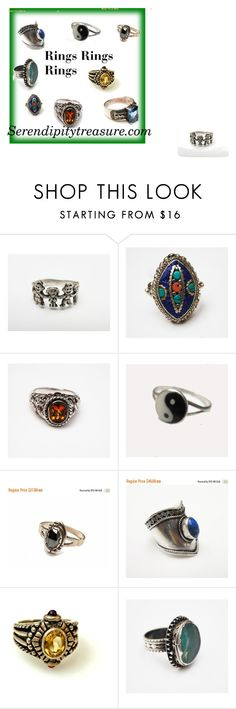 """""""Rings Rings Rings"""" by cindydcooley ❤ liked on Polyvore"""