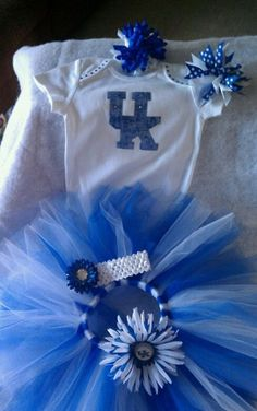 University of Kentucky Cheer Tutu Outfit --NEWBORN to 5t size. $30.00, via Etsy.