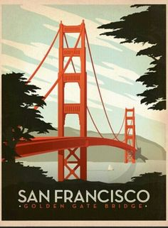 San Francisco Travel Poster #san #francisco #golden #gate #bridge #travel #poster #vintage