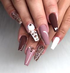 """2,673 Likes, 10 Comments - Snapchat: nailsonpoint_zn  (@nailsonpoint_zn) on Instagram: """"Casual ✨#nails #nail #fashion #style #TagsForLikes #cute #beauty #beautiful #instagood #pretty…"""""""
