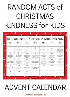 Random Acts of Christmas Kindness Printable Advent Calendar #247moms