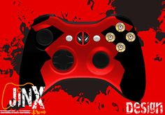 This is the most amazingest XBox 360 controller in the universe. Custom Deadpool controller with bullets as buttons!!!