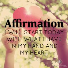 I will start today with what I have in my hand and in my heart! #whatsinyourheart #bobproctor