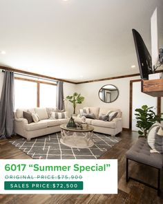 Double Wide Home, Summer Special, Mobile Homes, Champion, The Originals, Detail, Furniture, Beautiful, Home Decor