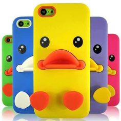 Hot Cartoon Small Yellow Duck For Iphone 4 Cell Phone Cases | Buy Wholesale On Line Direct from China