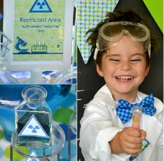 Mad Scientist, Science Lab and Science birthday party supplies and printable