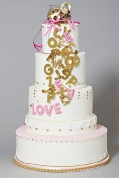 "Love Is All Around Us.  Posted from ""over the top wedding cakes"" on The Daily Meal.com"