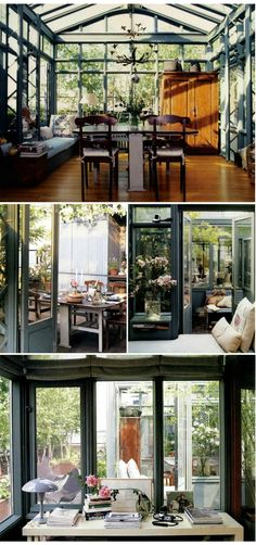 conservatory dream house, want this Modern Interior Design, Interior Architecture, Interior And Exterior, Conservatory House, Future House, My House, My Dream Home, Atrium, Beautiful Homes