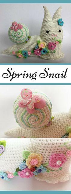 Amigurumi Spring Snail Crochet Pattern Printable #ad #amigurumi #amigurumidoll #amigurumipattern #amigurumitoy #amigurumiaddict #crochet #crocheting #crochetpattern #pattern #patternsforcrochet #printable #instantdownload #snail #easter #eastercrafts #spring