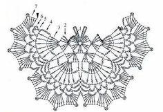 Gráfico de borboleta de crochê para usos variados