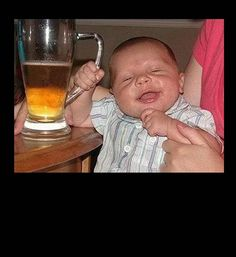 funny photos, drunk baby