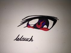 Lelouch's geass oh! It's very fantastic.