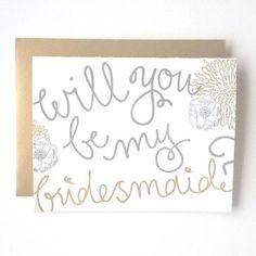 Will you be my bridesmaid? #sparklingeverafter