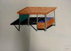 mesa sombras color