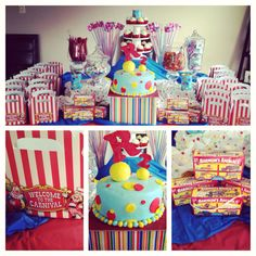 123 best circus theam candy table images birthday party themes rh pinterest com circus theme candy buffet ideas