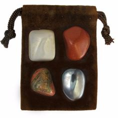 Carry this powerful pouch of four genuine, hand-selected, semi-precious…