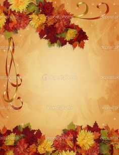 Thanksgiving Borders and Backgrounds   Fall Leaves Autumn ...