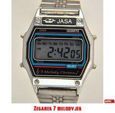 Zegarek 7 melodyjek Retro Watches, Vintage Watches, Hermes Apple Watch, Nerd Chic, The Last Laugh, Digital Watch, Casio Watch, Luxury Watches, Poland