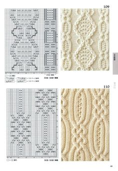 Photo from the album Knitting Pattern Book by Hitomi Shida on - Śc . Photo from the album Knitting Pattern Book by Hitomi Shida on - Ściegi - # Cable Knitting Patterns, Knitting Stiches, Knitting Charts, Lace Knitting, Knitting Designs, Knit Patterns, Knitting Projects, Crochet Stitches, Stitch Patterns