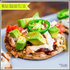 Easy Mini Nacho Pizzas   25 Vegan Recipes For Super Bowl Sunday