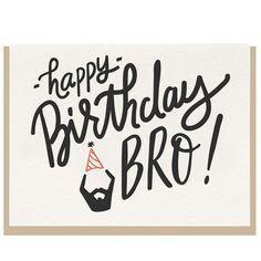 Happy Birthday Bro Card