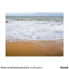 Waves on the beach postcard