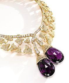 VAN CLEEF & ARPELS Diamond and Amethyst Botticelli Necklace
