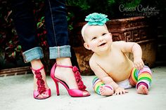 So stinkin cute...oh I love baby legs! If I ever have a baby I will have lots of baby legs :)