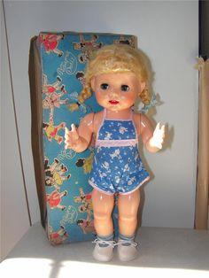 hard plastic vintage doll, just like my own :)