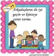 okulöncesi sınıf kuralları - Google'da Ara Preschool Rules, Preschool Activities, Classroom Rules, Colorful Pictures, Pre School, First Grade, Etiquette, Counseling, Kindergarten