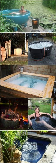 12 Relaxing And Inexpensive Hot Tubs You Can DIY In A Weekend #diy #hottubs #fundiy #diyncrafts via @vanessacrafting