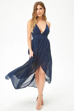Product Name:Plunging Tulip Hem Maxi Dress, Category:dress, Price:32