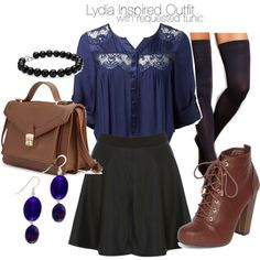 """Lydia Inspired Outfit with Requested Tunic"" by veterization on Polyvore <--------- love the top"