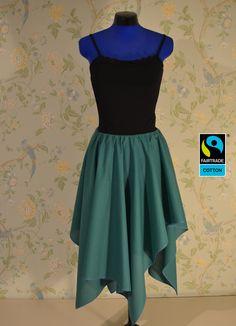 Röcke - Fairtrade Rock grün, asymmetrisch mit Zipfeln, bio - ein Designerstück von FairTale bei DaWanda