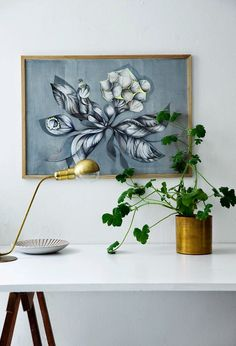 Home office table * Botanic print by Sofie Børsting