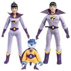DC Superfriends maravilha Gêmeos com Gleek Action Figure Set - Figuras Toy Company - DC Comics - Figuras de Ação em entretenimento Planeta Terra