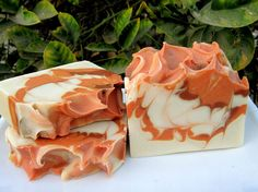 Love the pumpkin colour on this soap.. I have swirl envy.. Spiced Apple Soap with Shea Butter by lathertech on Etsy, .