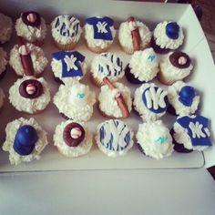 New York Yankee cupcakes