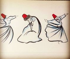 Islamic mysticism. Whirling dervishes.