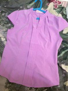 2016 Novas Mulheres Do Escritório Camisas Blusas Branco Rosa Roxo Elegante Das Senhoras Blusa de Chiffon de Manga Curta Das Mulheres Encabeça Chemise Femme 3904 Loja Online   aliexpress móvel