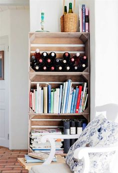 Only shelf you would need.. Wine, books and misc