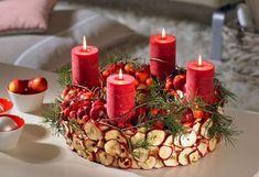 almás adventi koszorú