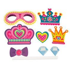 DIY Kid Photo Booth Props, 8-piece, Princess Party                              …