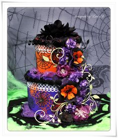 Scrap Art by Lady E: Halloween cake for SL Challenge #4