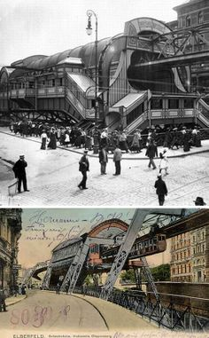 The Wuppertal Suspension Railway. The first track opened in 1901