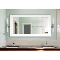 Rayne Mirrors Double Wide Vanity Wall Mirror Size: Extra Large