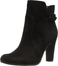 Sam Edelman Women's Sylvie Black Suede Boot. A stylish and chic boot. Leather upper adorned with a buckle at the ankle. Rounded toe. Side zipper. Skinny stacked heel. Synthetic lining and insole. Synthetic sole. Imported. Measurements: Heel Height: 3 in Weight: 10 oz Circumference: 10 in Shaft: 6 in Product measurements were taken using size 6, width M. Please note that measurements may vary by size.